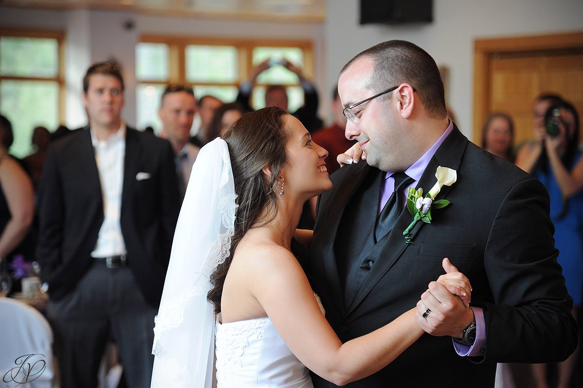 photo of bride and groom's first dance