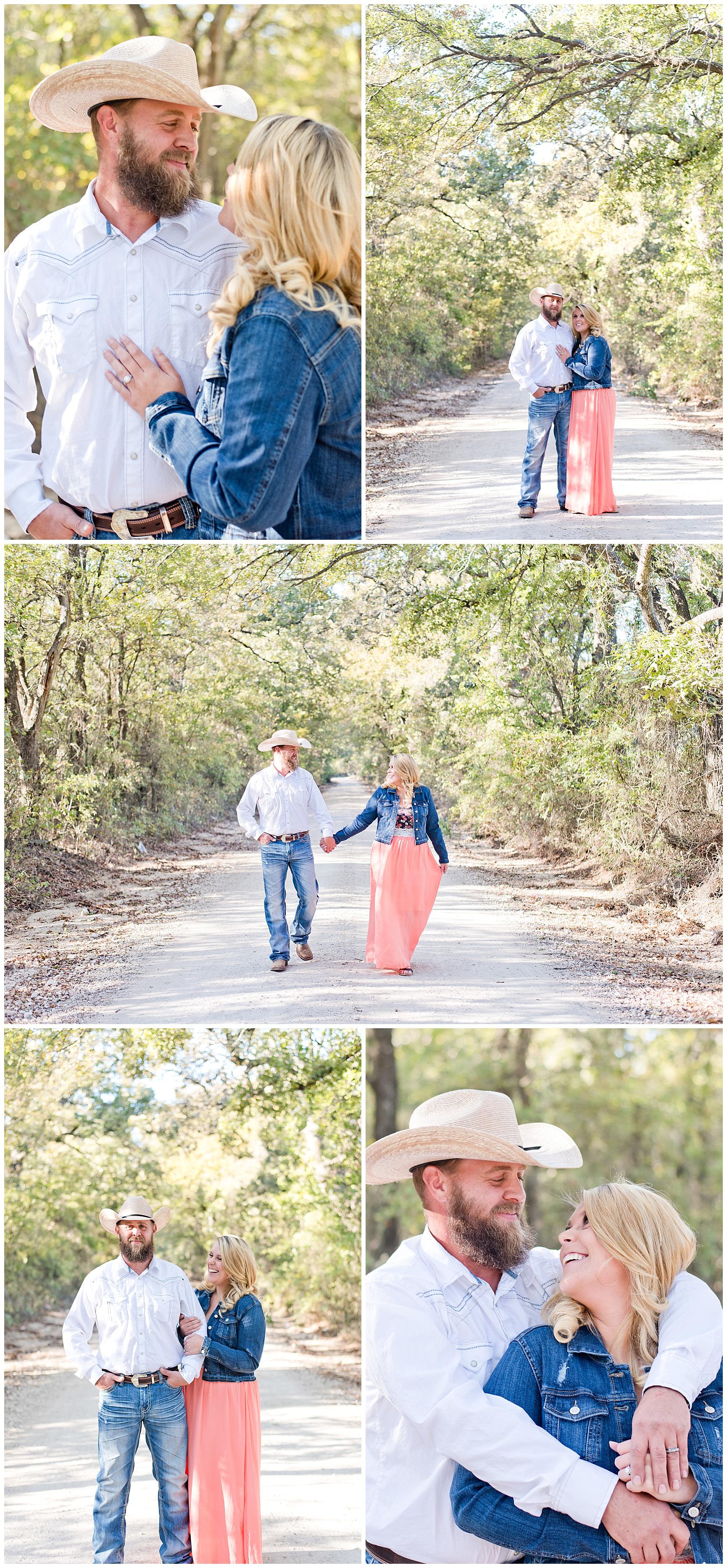 Farm Fall Engagement Session Texas