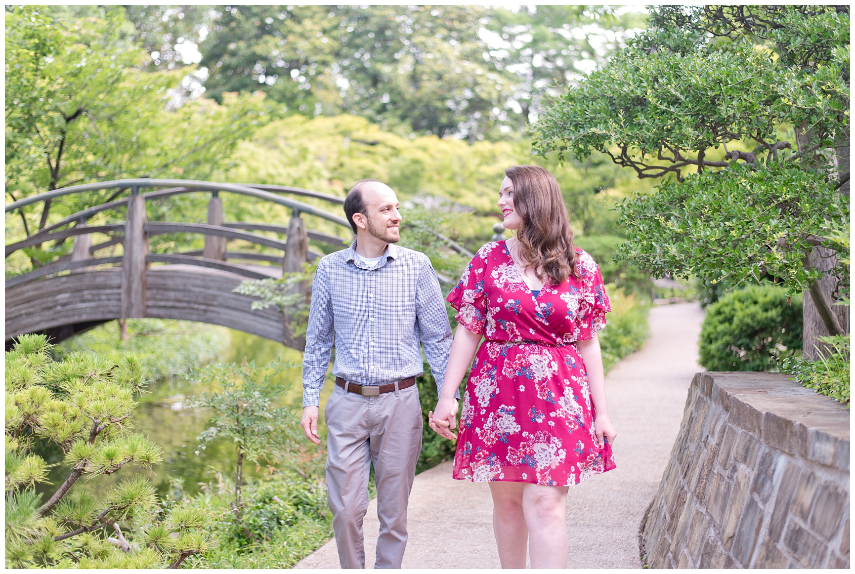 Japanese Garden Engagement Session