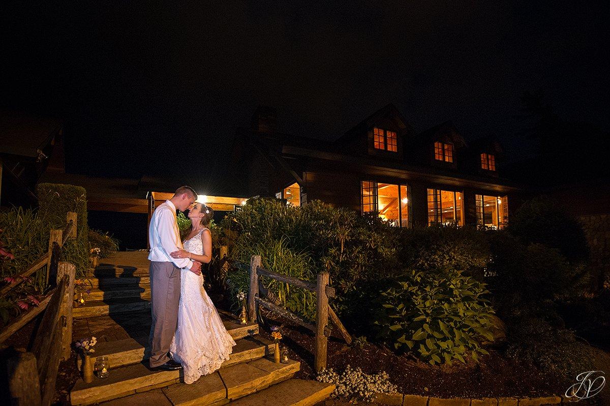 bride and groom night photos lake placid golf club