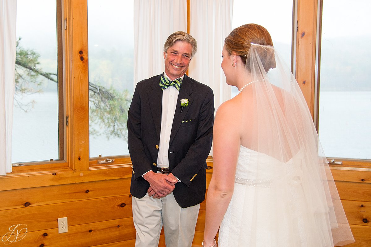 first look with father albany wedding photographer