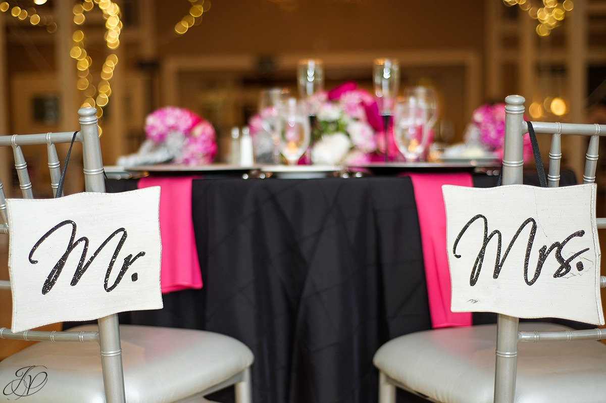 mr and mrs bridal sign