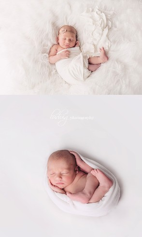 6 days old newborn portrait of baby James.