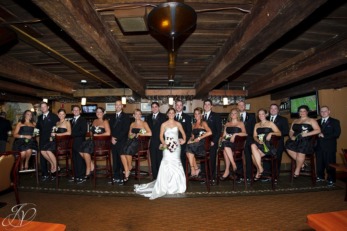 bridal party photo, The Glen Sanders Mansion, Albany Wedding Photographer