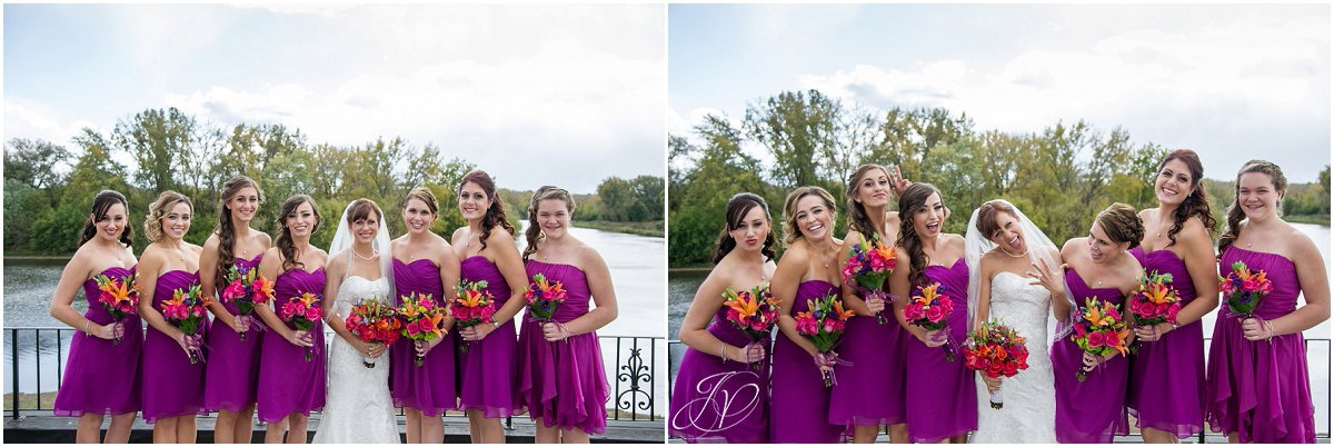 bride and bridesmaids pink dresses glen sanders mansion wedding