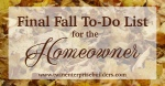 The Homeowner's Final Fall Checklist