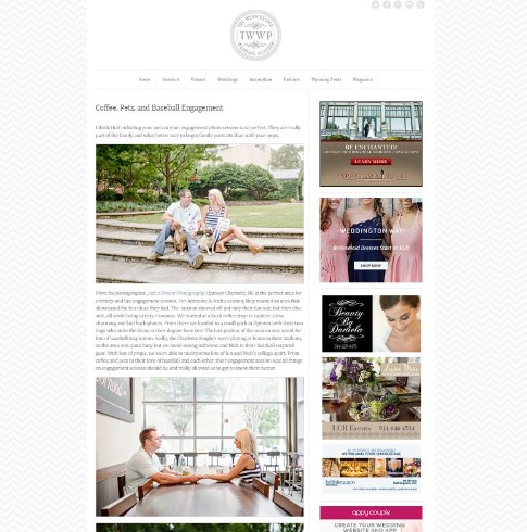 charlotte nc featured engagement session published wedding photographers as seen on photo