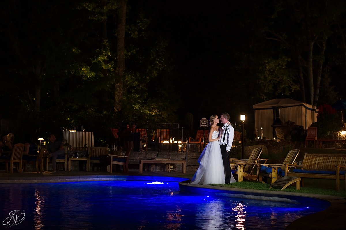 night photo saratoga national exterior bride and groom romantic