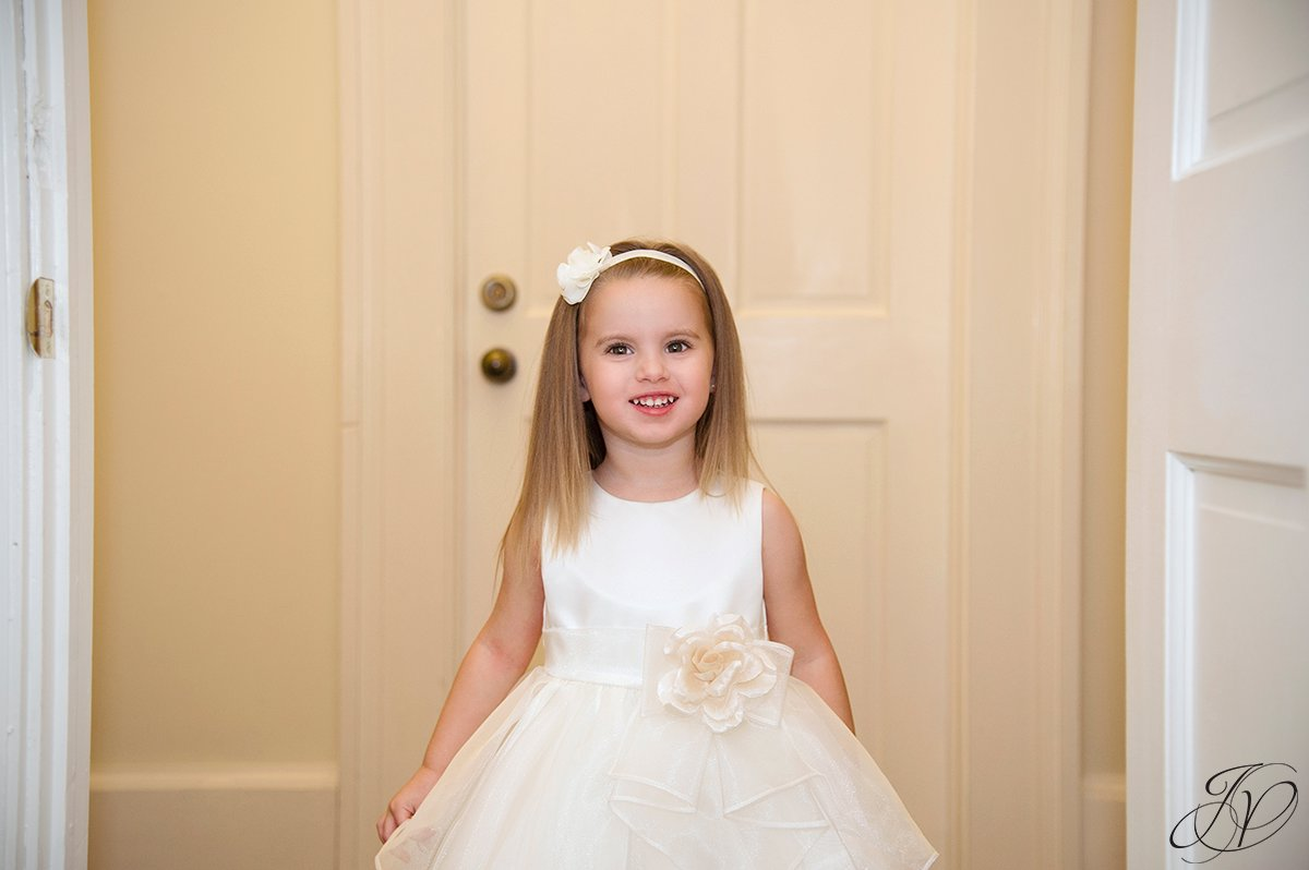 flower girl,  Schenectady Wedding Photographer, getting ready photo, bride and dress photo, wedding details, Wedding at The Stockade Inn