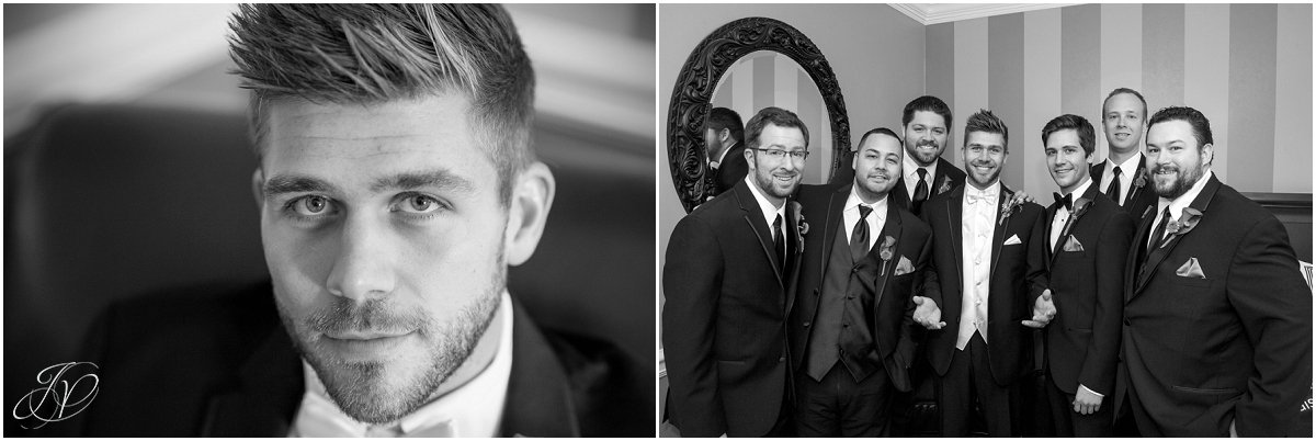 groom portraits glen sanders mansion wedding black and white
