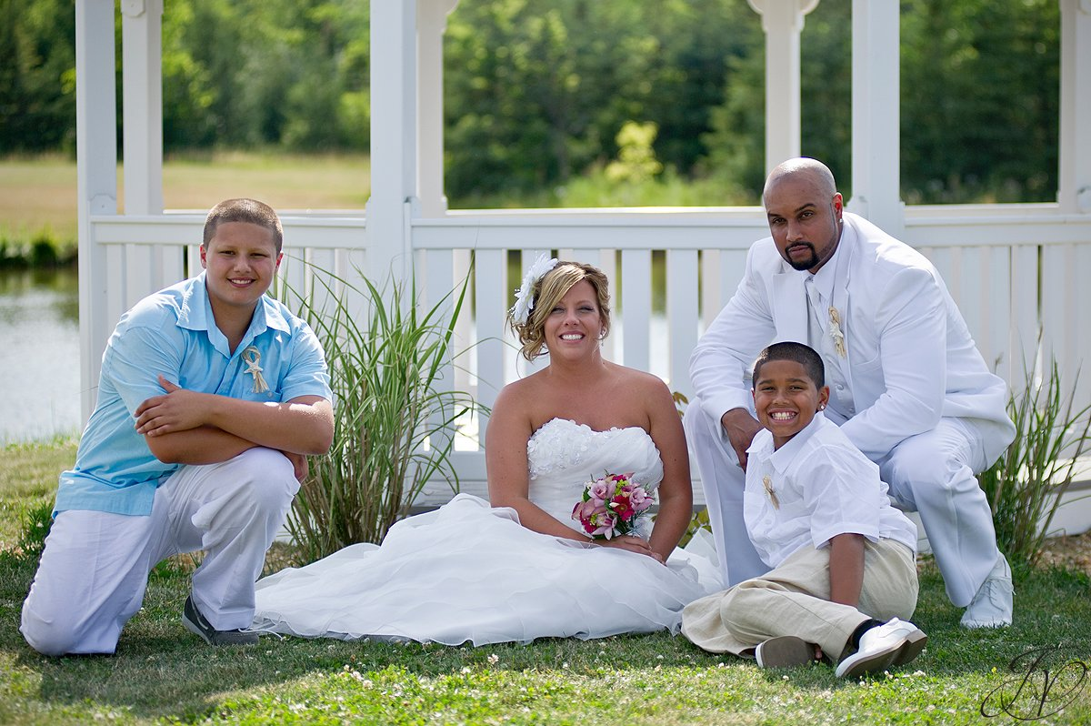 Settle Hill Tree Farm Wedding ,Albany Wedding Photographer, Michele and Sean, Bride and groom family photo, family photo