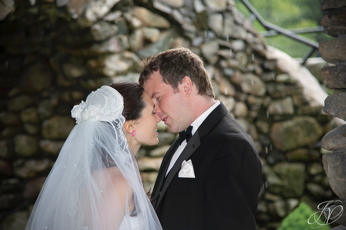 bride and groom kissing, wedding first look photo, first look photographs, bride and groom first look, albany wedding photographers