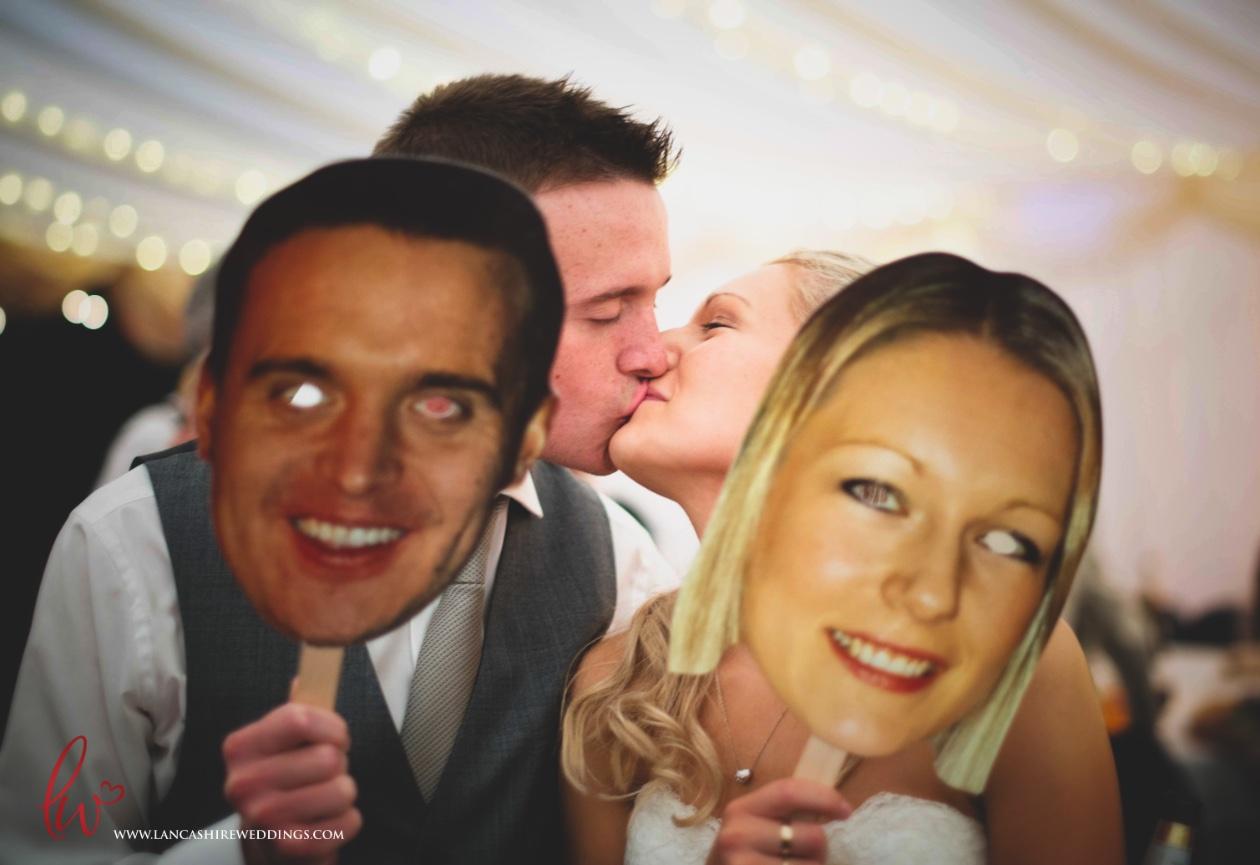 Unusual wedding photography Lancashire