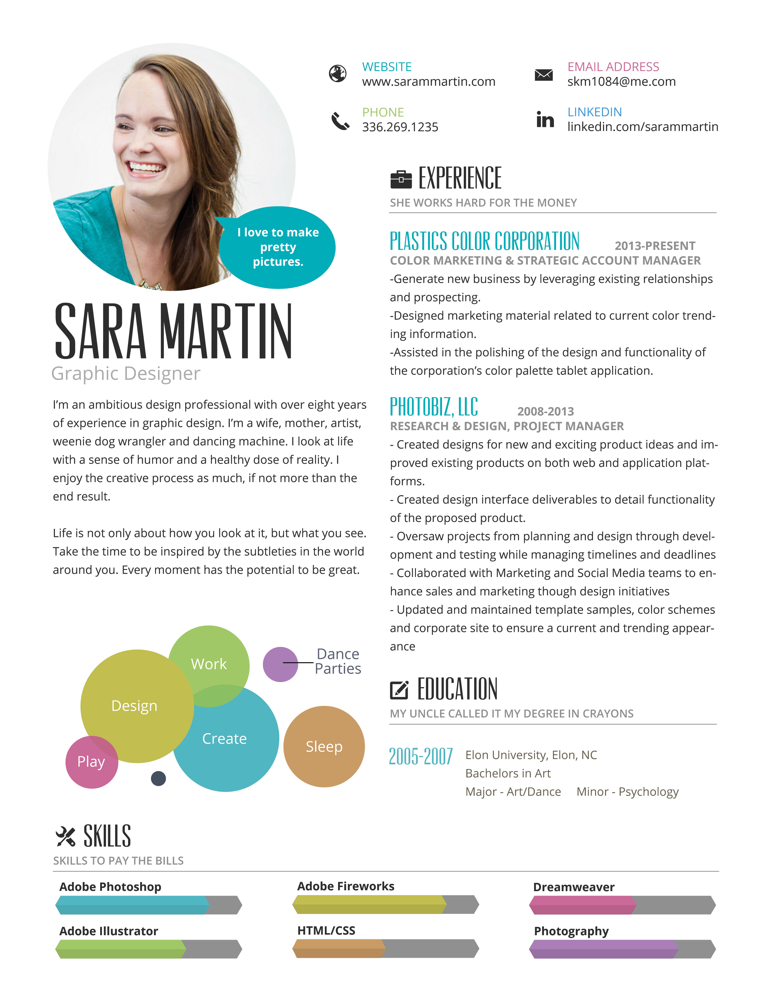 Infographic Resume - Noble Light Designs