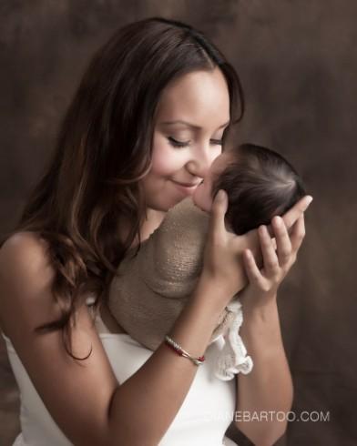 Newborn baby studio photography