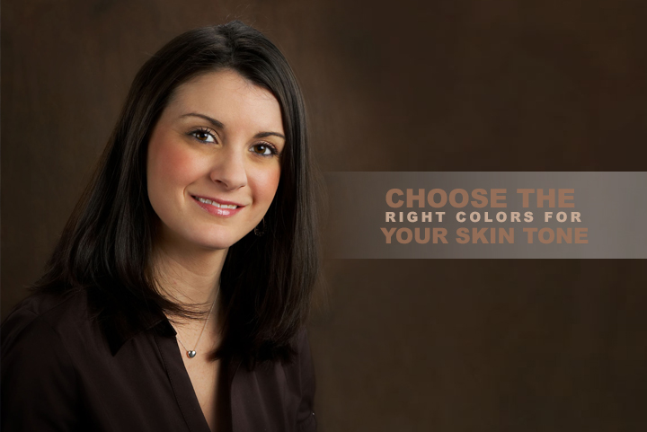 Right colors for your skin tone-- headshot
