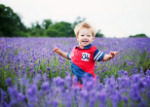 Photo shoot at the lavender fields in Surrey