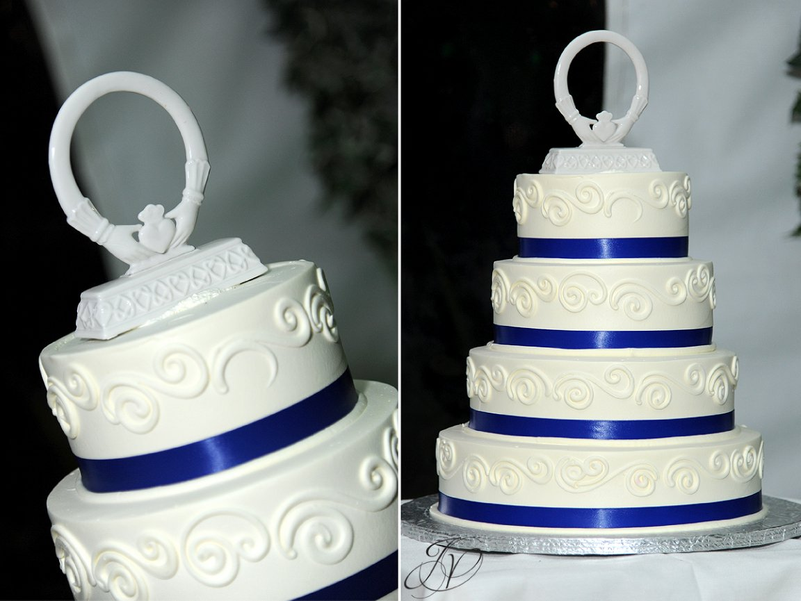reception cake detail photo, riverstone manor, schenectady wedding photographer