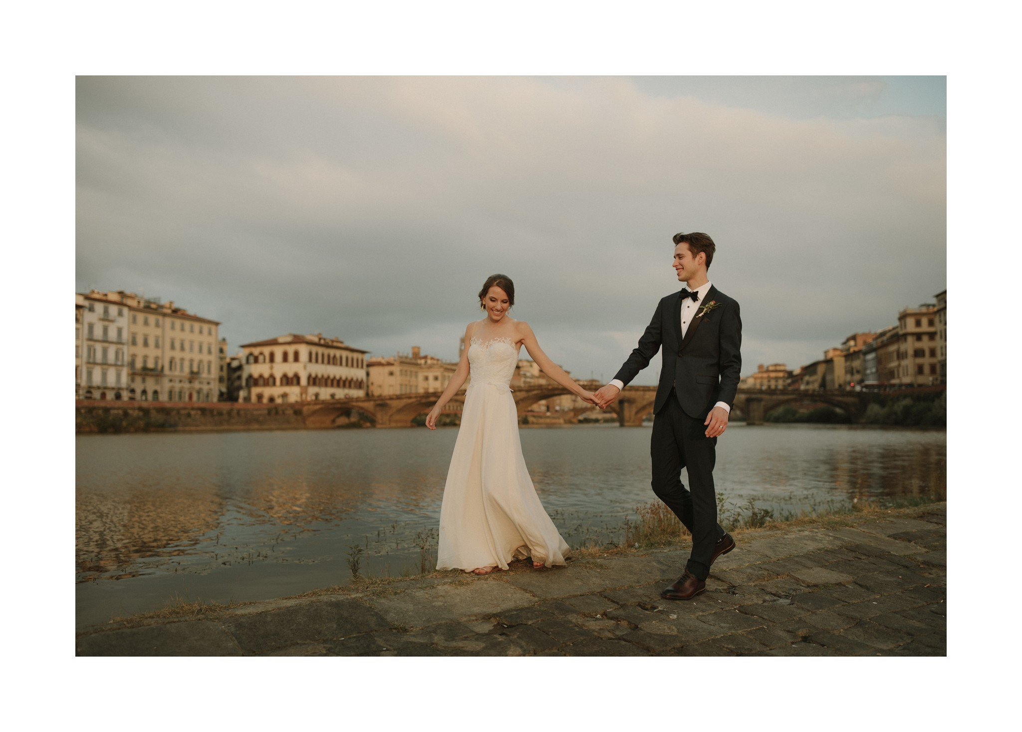 arnoo river wedding photo