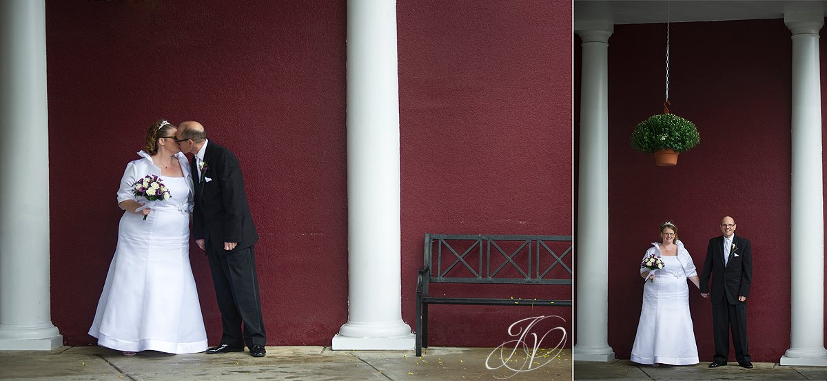 Wedding at The Queensbury Hotel, bride and groom kissing, Lake George Wedding Photographer