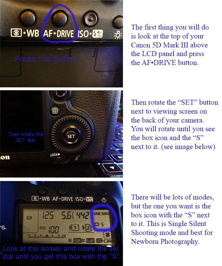 Silent Shooting Mode Canon 5dm3