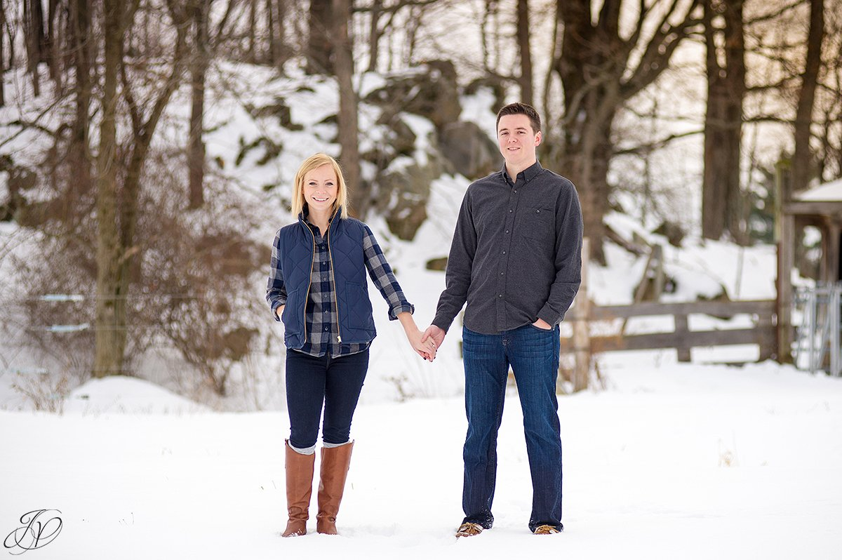 winter engagement photos jessica painter photography