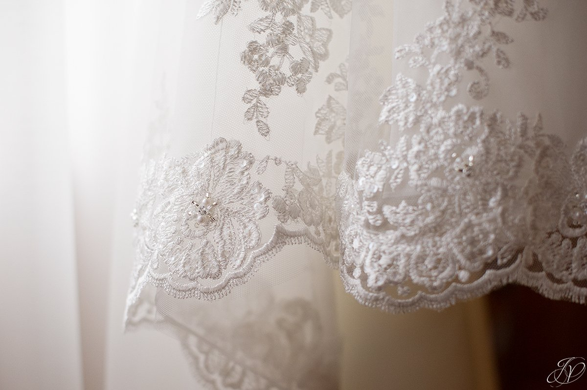 Stella York wedding dress details
