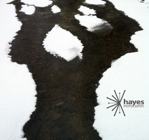 Hayes Photography, abstract, snow, creek, design,webster, ny