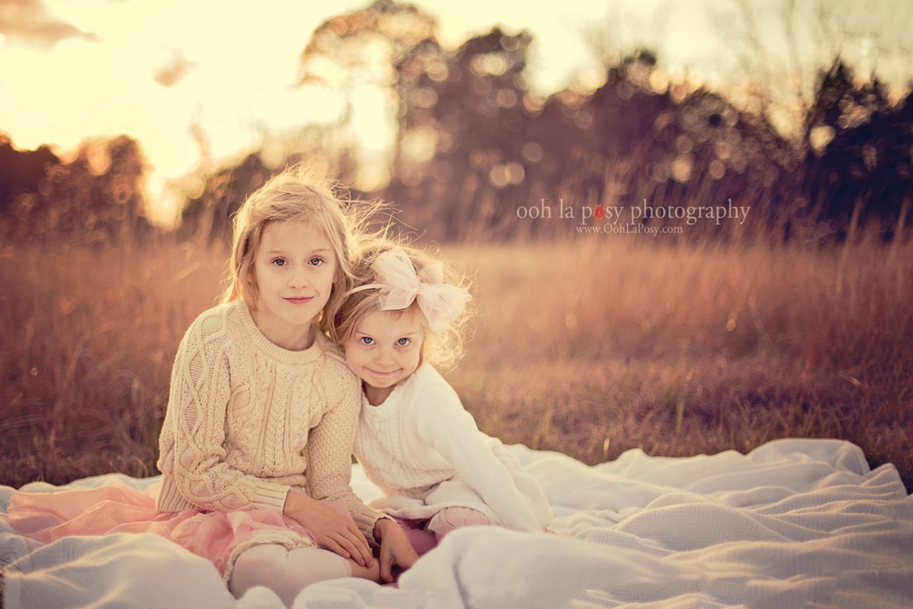 Valentine's Day Silly Sisters, Spring Texas Child Photography