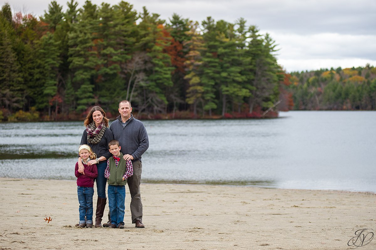 beautiful beach fall family photos