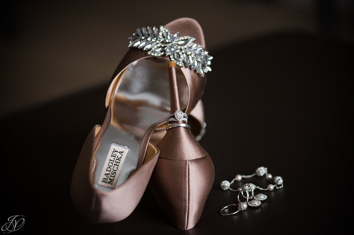 badgley mischka bridal shoes brown