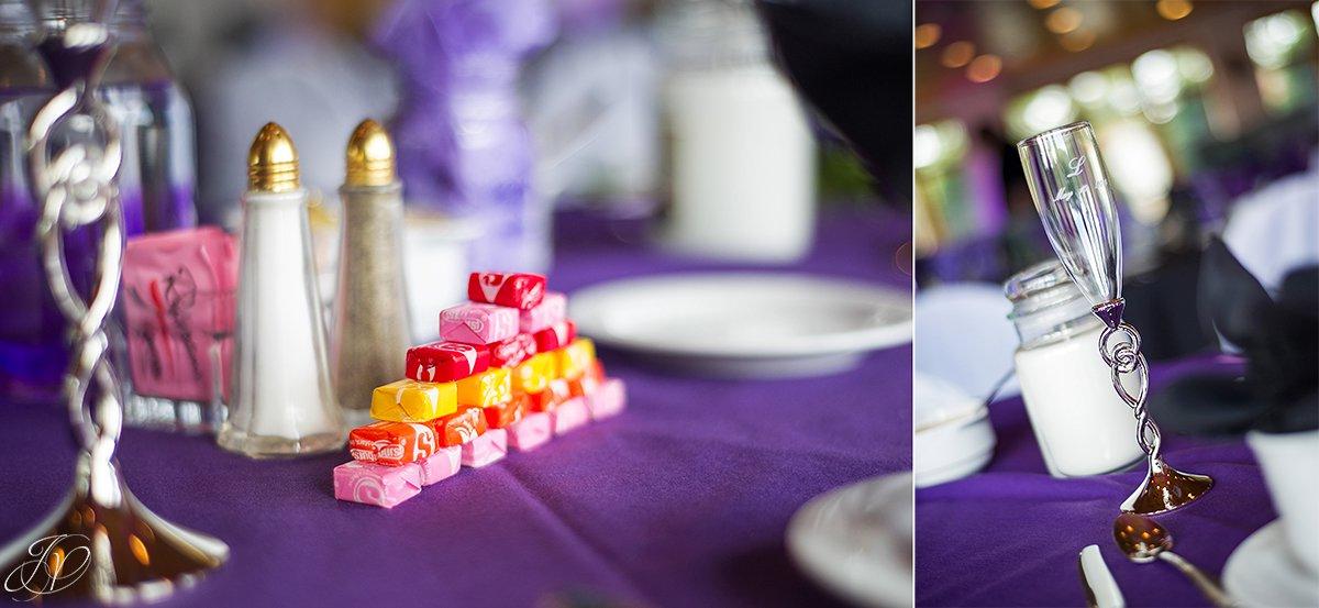 photo of unique reception details