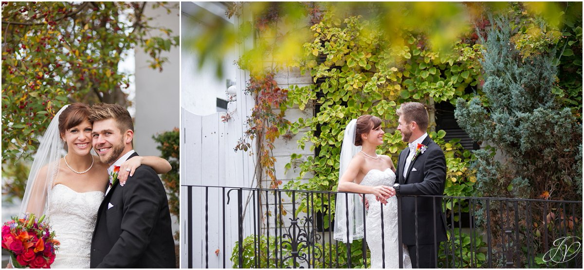 bride and groom fall glen sanders mansion wedding