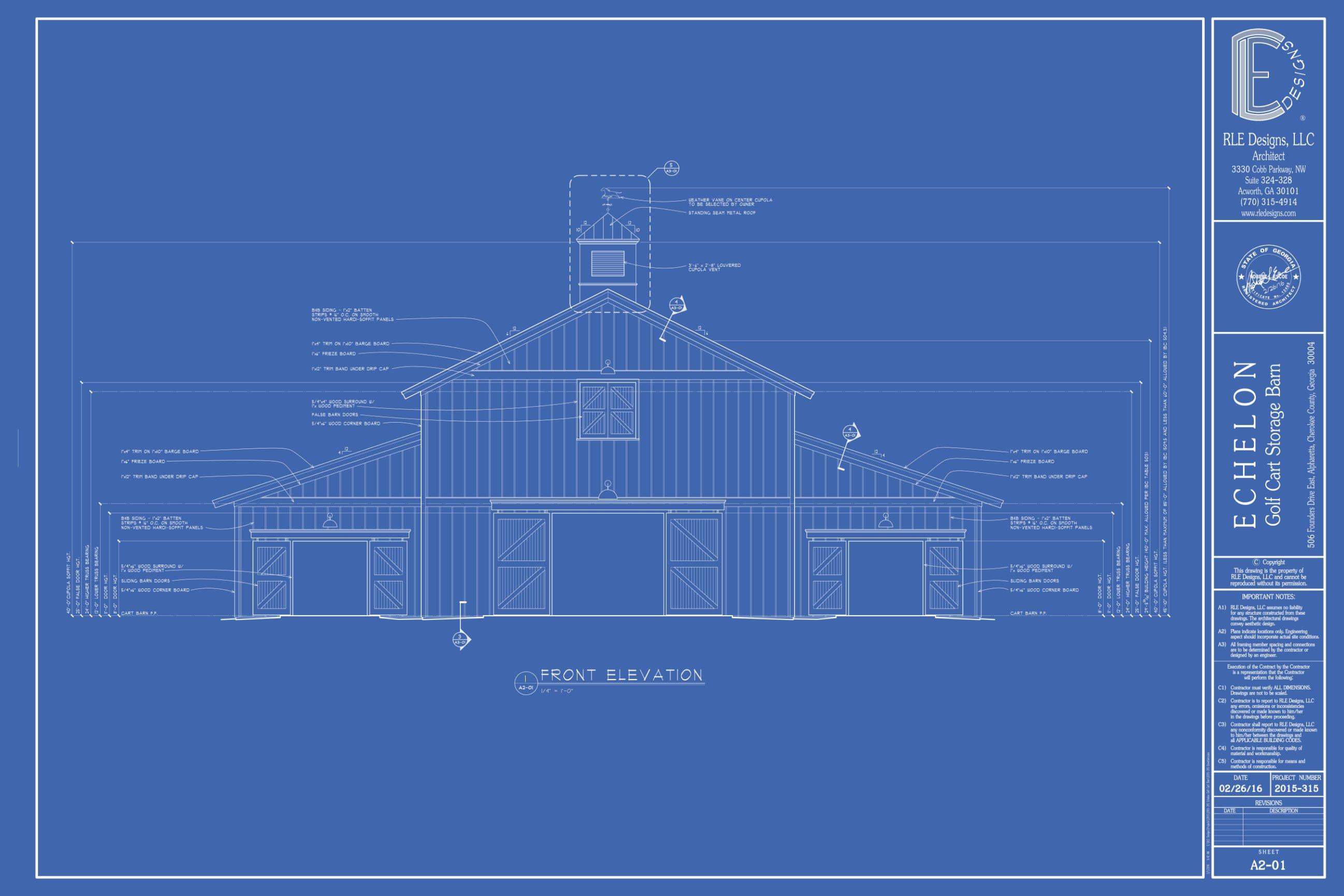 Rle Designs Llc Architect In Acworth Georgia Echelon Cart Barn Cupola Schematic