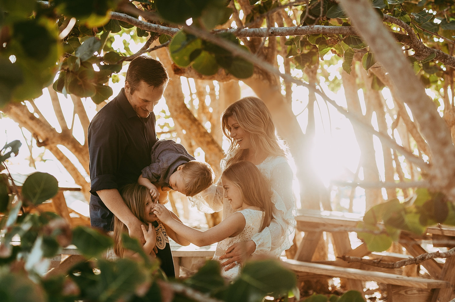 Naples Beach, Florida, coastal family portrait, tropical family portrait, Rya Duncklee