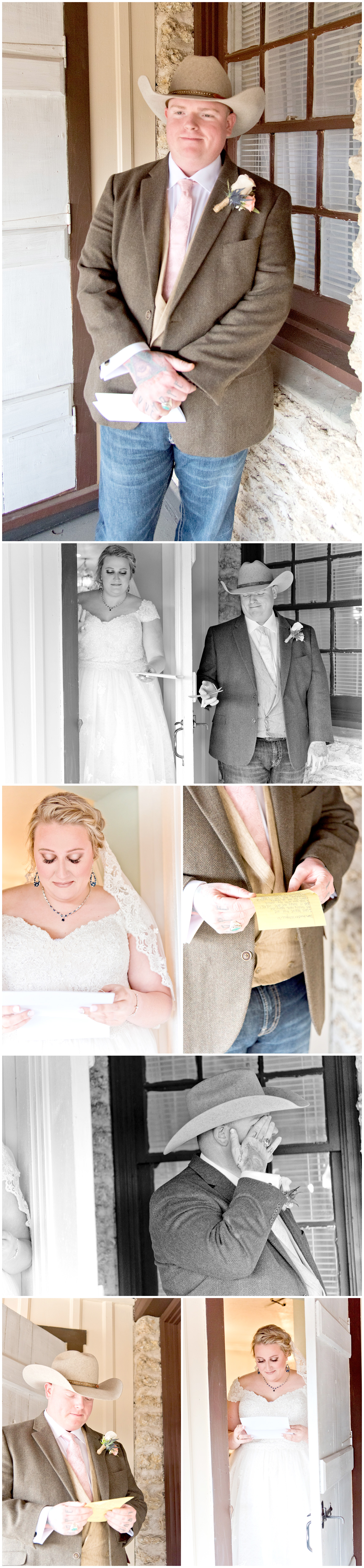 Private Wedding Vows Between Bride and Groom Before Wedding Fort Worth Texas
