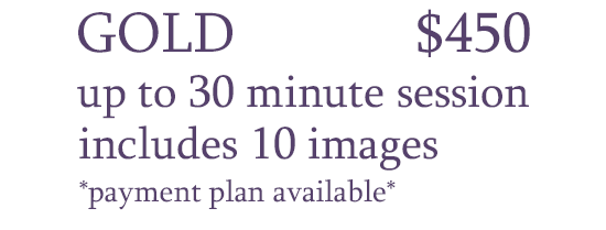 The Maternity Gold package is priced at $450.  It includes a 30 minute session with 10 digital images.